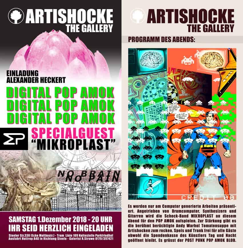 Mikroplast aus Bochum spielt auch in Essen auf Vernissage  .